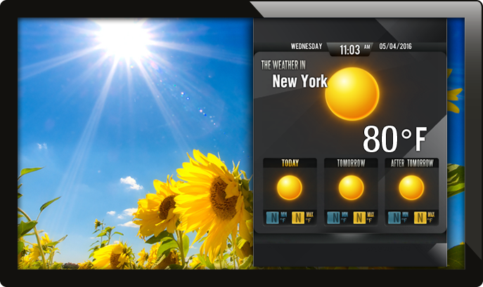 digital signage weather, weather app