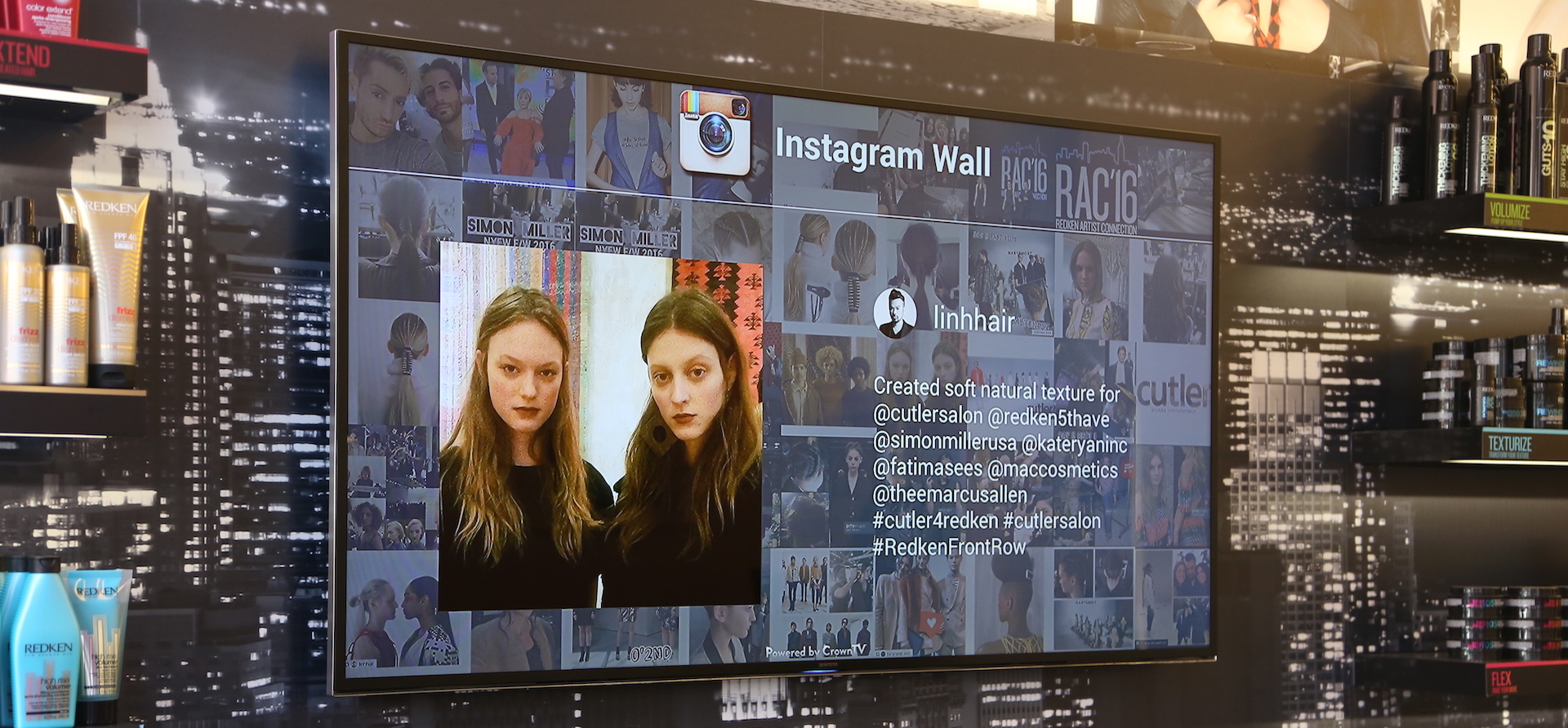 instagram digital signage, instagram wall, hashtag wall