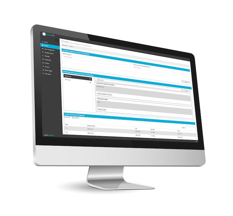 cloud-based digital signage software, digital signage monitor, digital signage components