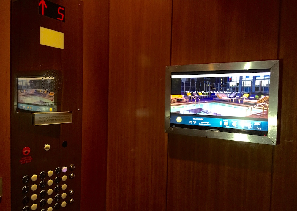 elevator digital signage