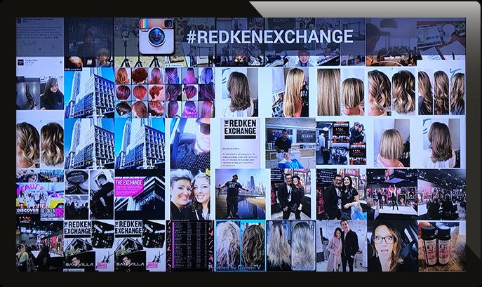 hashtag wall, social media wall, digital signage instagram