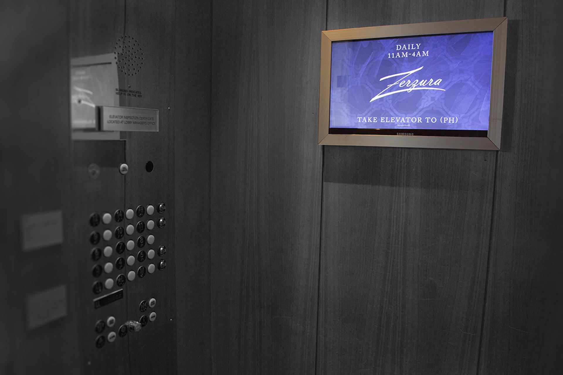 hotel digital signage, elevator digital signage