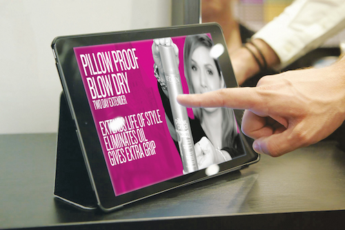 digital signage tablet, salon digital signage