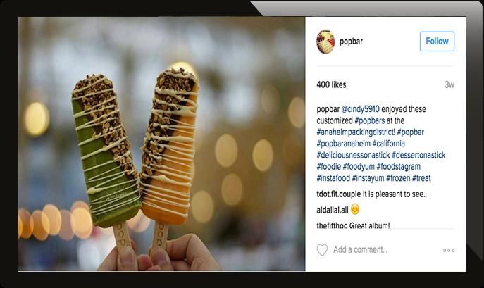 digital signage instagram