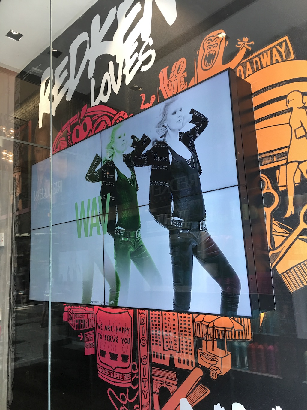 redken fifth avenue, retail digital signage, video wall