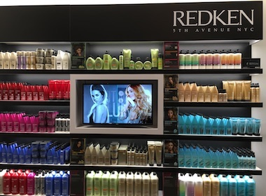 redken gallerie, retail digital signage