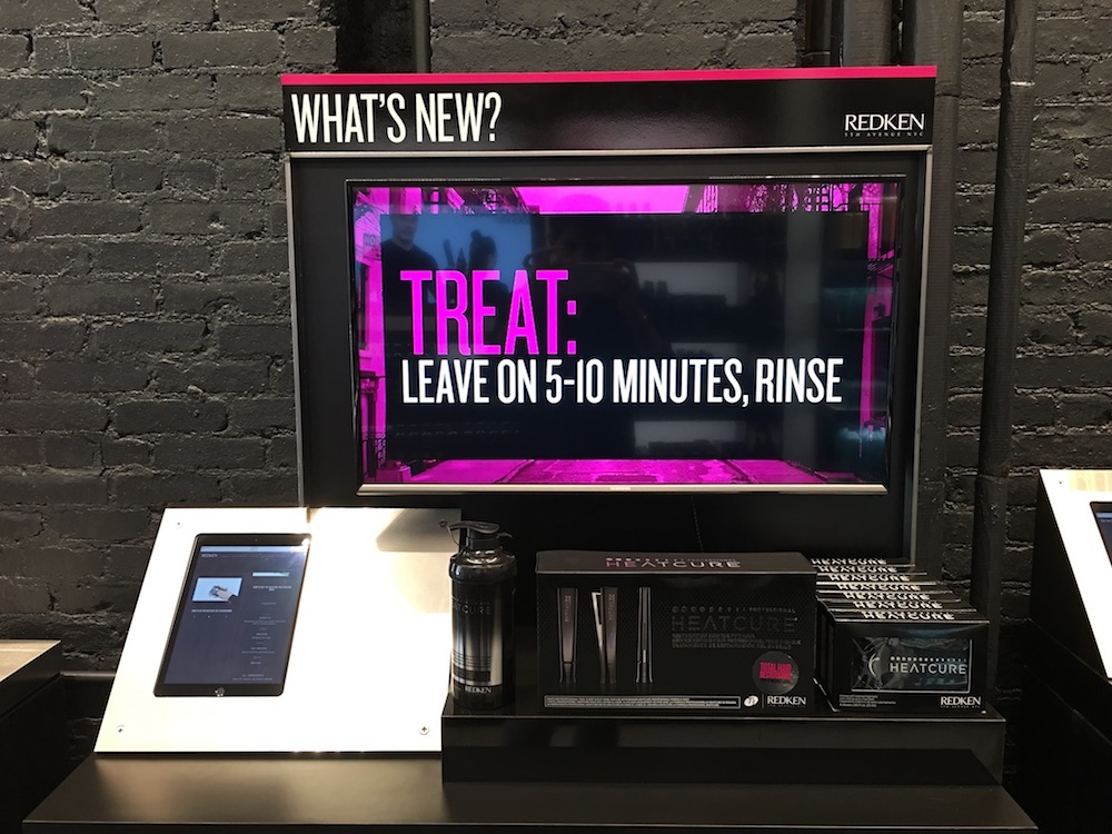 redken fifth avenue, retail digital signage