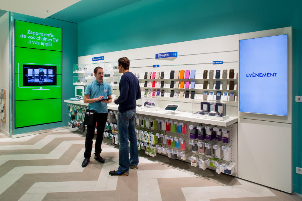 bouygues telecom, retail tech, retail digital signage