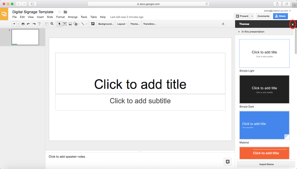 How To Create Digital Signage Templates With Google Slides