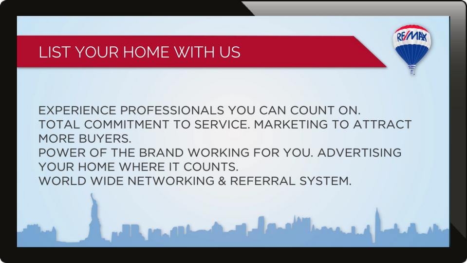 real estate digital signage