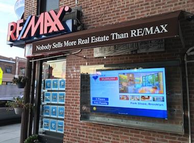 real estate window-displays