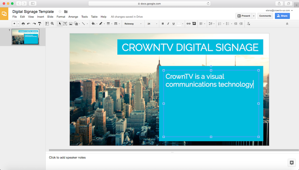 How to Create Digital Signage Templates with Google Slides or Canva