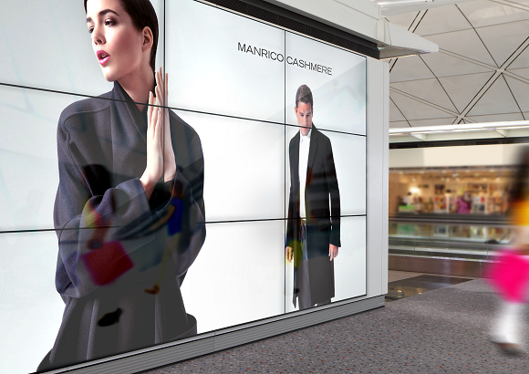 digital signage retail, manrico cashmere