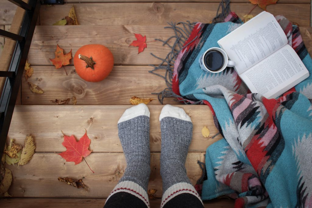 Cozy socks + blankets with Fall flair