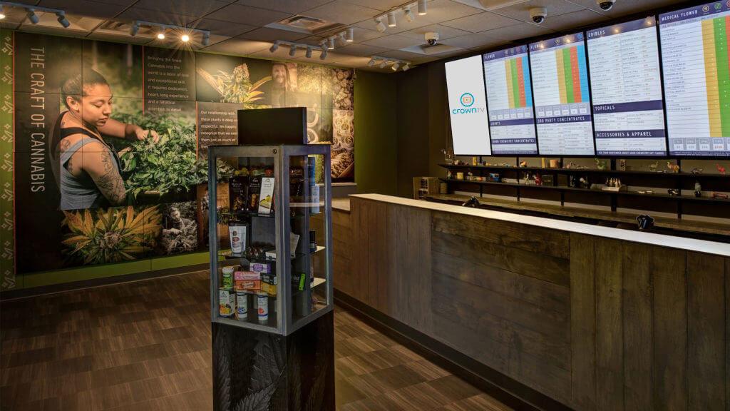 Digital Signage ft. CrownTV in a Marijuana Dispensary
